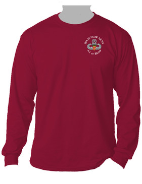 4th Brigade Combat Team (Airborne) Long-Sleeve Cotton Shirt -(P)