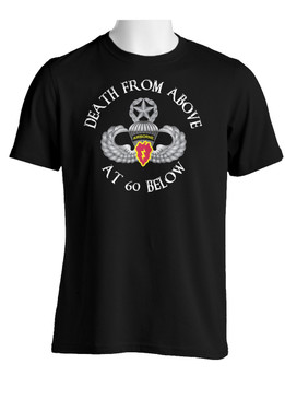 4th Brigade Combat Team (Airborne)  Cotton T-Shirt-(FF)
