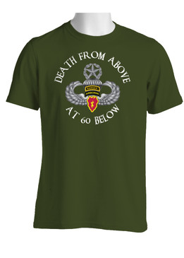 4th Brigade Combat Team (Airborne) w/ Ranger Tab  Cotton T-Shirt-(FF)