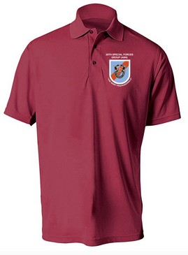20th Special Forces Group  Embroidered Moisture Wick Shirt (Paragon)
