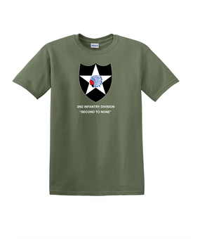 2nd Infantry Division Cotton T-Shirt-(FF)