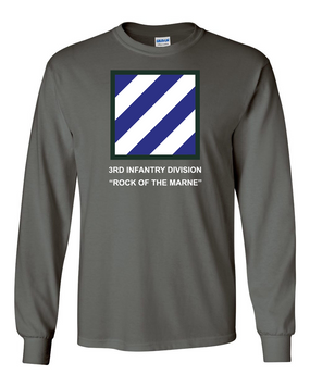 3rd Infantry Division Long-Sleeve Cotton Shirt -(FF)