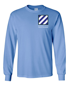 3rd Infantry Division Long-Sleeve Cotton Shirt -(P)