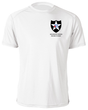 2nd Infantry Division Moisture Wick Shirt -(P)