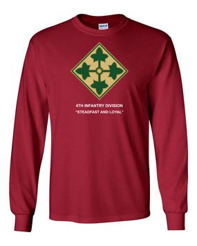 4th Infantry Division Long-Sleeve Cotton Shirt -(FF)