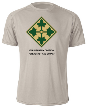 4th Infantry Division Moisture Wick Shirt -(FF)