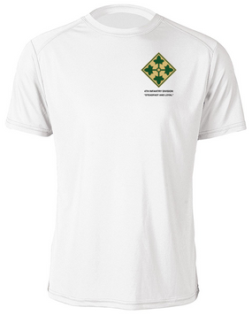 4th Infantry Division Moisture Wick Shirt -(P)