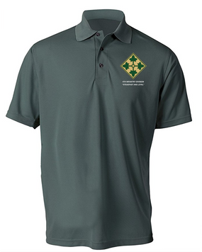 4th Infantry Division Embroidered Moisture Wick Shirt (Paragon)