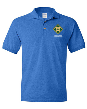 4th Infantry Division Embroidered Cotton Polo Shirt