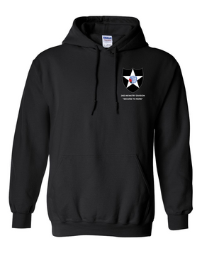 2nd Infantry Division Embroidered Hooded Sweatshirt