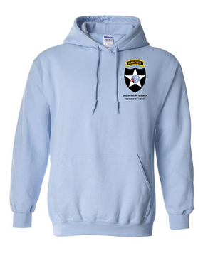 2nd Infantry Division w/ Ranger Tab Embroidered Hooded Sweatshirt