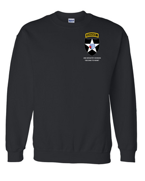 2nd Infantry Division w/ Ranger Tab Embroidered Sweatshirt