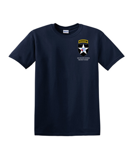 2nd Infantry Division w/ Ranger Tab Cotton T-Shirt-(Pocket)