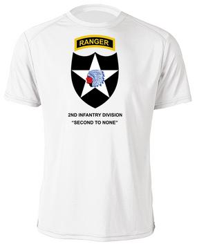 2nd Infantry Division w/ Ranger Tab Moisture Wick Shirt -(FF)