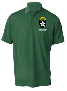 2nd Infantry Division w/ Ranger Tab Embroidered Moisture Wick Shirt (Paragon)