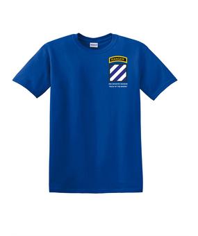3rd Infantry Division w/ Ranger Tab Cotton T-Shirt-(Pocket)