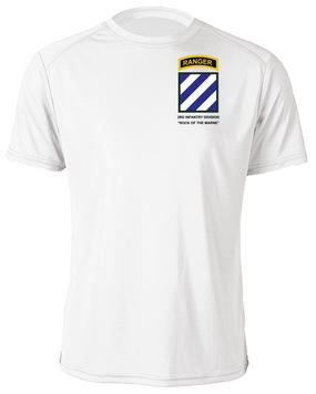 3rd Infantry Division w/ Ranger Tab Moisture Wick Shirt -(Pocket)