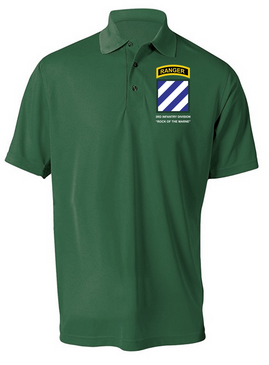 3rd Infantry Division w/ Ranger Tab Embroidered Moisture Wick Shirt (Paragon)
