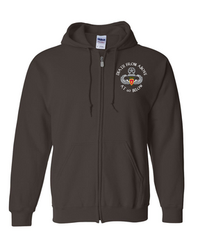 4th Brigade Combat Team (Airborne)  Embroidered Hooded Sweatshirt with Zipper