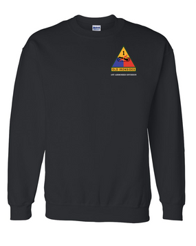 1st Armored Division Embroidered Sweatshirt