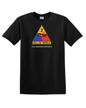 2nd Armored Division (Chest) Cotton T-Shirt