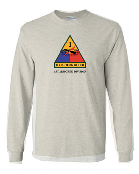 1st Armored Division (Chest)- Long-Sleeve Cotton Shirt