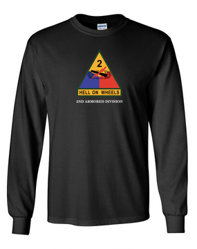 2nd Armored Division (Chest)- Long-Sleeve Cotton Shirt
