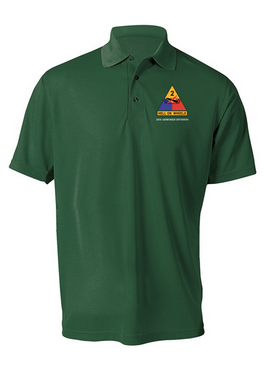 2nd Armored Division Embroidered Moisture Wick Shirt (Paragon)