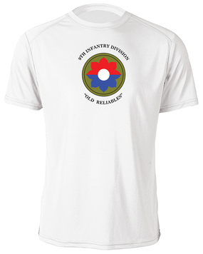 9th Infantry Division Moisture Wick Shirt (Chest)