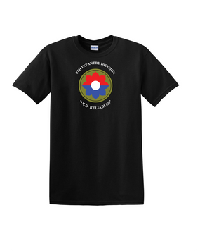 9th Infantry Division Cotton T-Shirt (Chest)