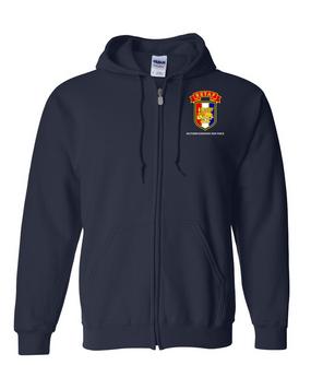 SETAF Embroidered Hooded Sweatshirt with Zipper
