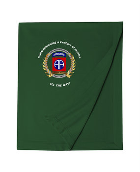 "82nd Airborne Division ""100th Anniversary"" Embroidered Dryblend Stadium Blanket"
