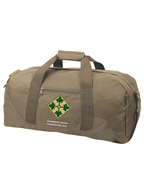 4th Infantry Division Embroidered Duffel Bag