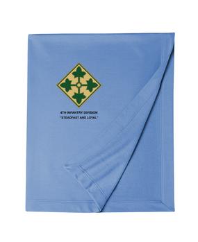 4th Infantry Division Embroidered Dryblend Stadium Blanket