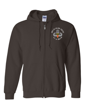 4th Brigade Combat Team (Airborne) w/ Ranger Tab  Embroidered Hooded Sweatshirt with Zipper
