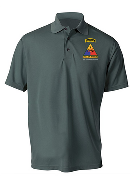 2nd Armored Division w/ Ranger Tab Embroidered Moisture Wick Shirt (Paragon)