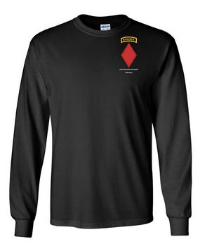 5th Infantry Division w/ Ranger Tab Long-Sleeve Cotton Shirt-(Pocket)