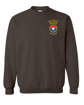 9th Infantry Division w/ Ranger Tab Embroidered Sweatshirt