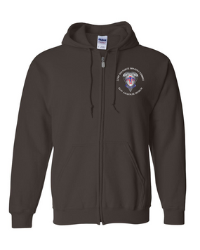 2-501st Embroidered Hooded Sweatshirt with Zipper