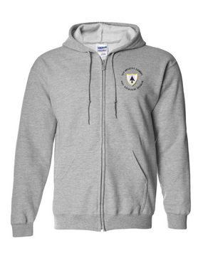 26th Infantry Regiment Embroidered Hooded Sweatshirt with Zipper