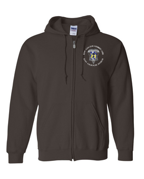 82nd Aviation Brigade Embroidered Hooded Sweatshirt with Zipper