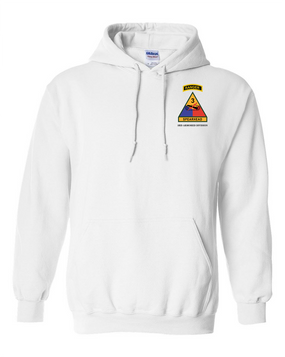 3rd Armored Division w/ Ranger Tab Embroidered Hooded Sweatshirt