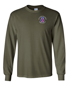 10th Mountain Division Long-Sleeve Cotton Shirt