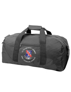 327th Infantry Regiment Embroidered Duffel Bag