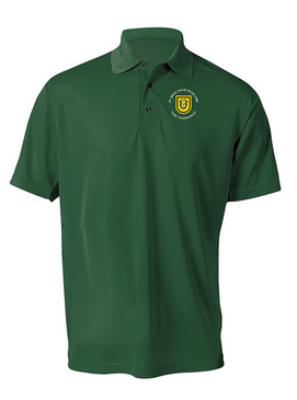 1st Special Forces Group Embroidered Moisture Wick Polo (C)
