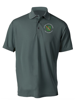 10th Special Forces Group (Europe)  Embroidered Moisture Wick Polo (C)