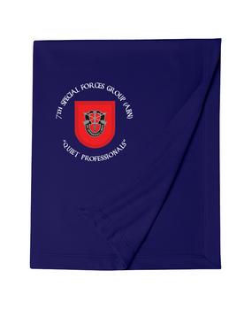 7th Special Forces Group Embroidered Dryblend Stadium Blanket