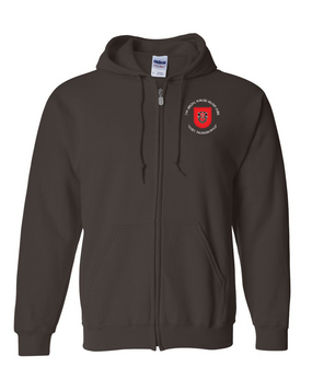7th Special Forces Group Embroidered Hooded Sweatshirt with Zipper (C)