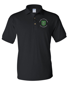 10th Special Forces Group Embroidered Cotton Polo Shirt (C)