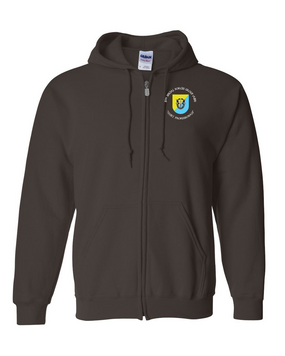 8th Special Forces Group Embroidered Hooded Sweatshirt with Zipper (C)